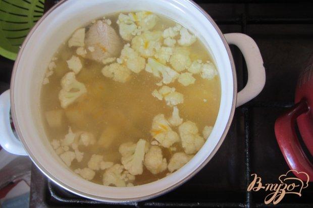 Суп со цветной капустой и индюшкой без зажарки