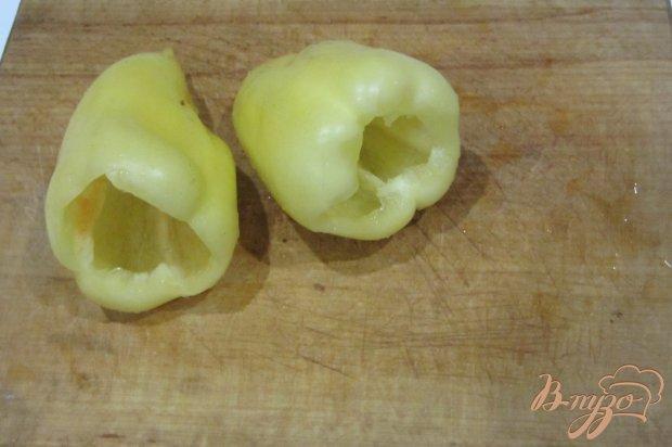 Закуска перец фаршированый творожной массой с зеленью