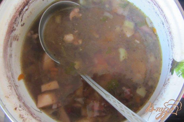 Суп с красной фасоли без зажарки