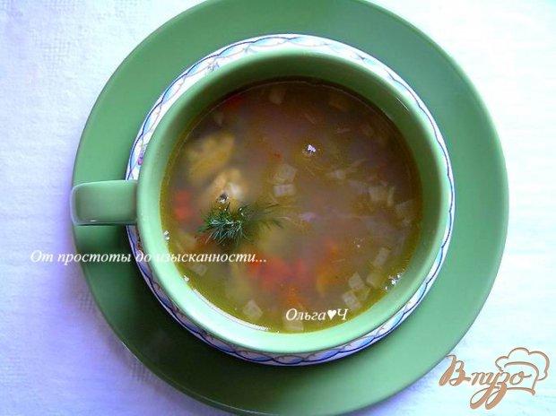 Легкий горохово-овощной суп с мидиями