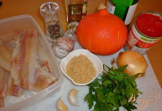 Рыба с тыквой и томатным соусом
