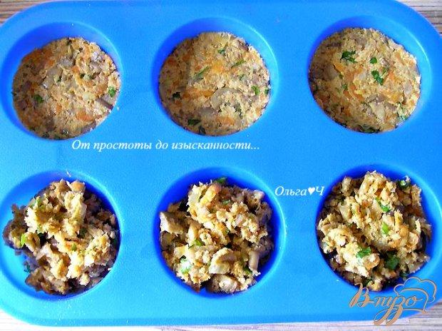 Соевые котлетки с грибами (в духовке)