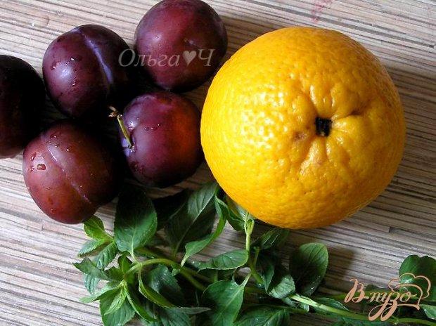 """Фреш """"Апельсин-слива-мята"""""""