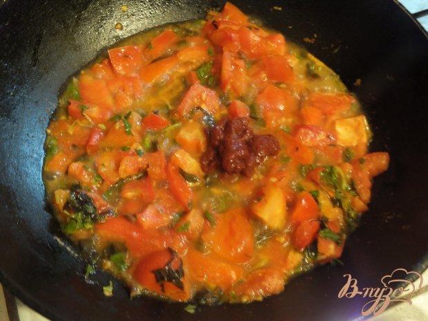 Паста с сыром сулугуни под базиликово-помидорным соусом
