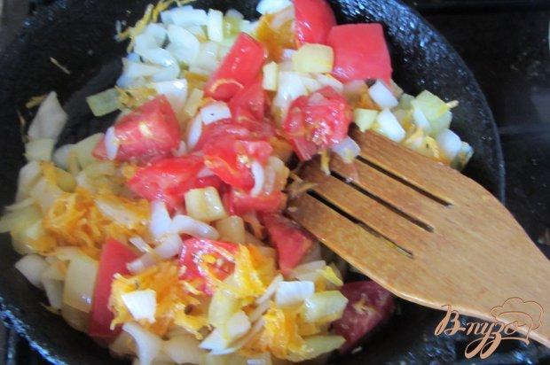 Макароны с овощами под сырной шубкой