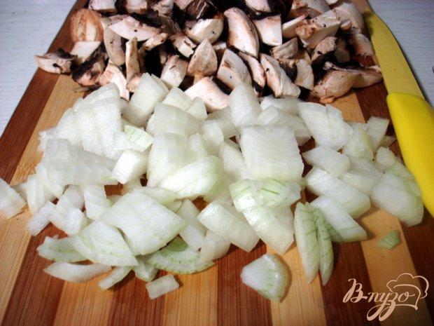 Блины с грибами и капустой