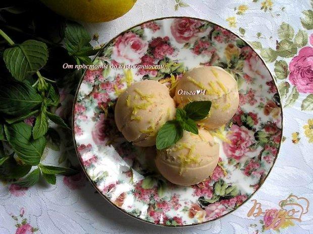 Томатное мороженое с лимонным кремом