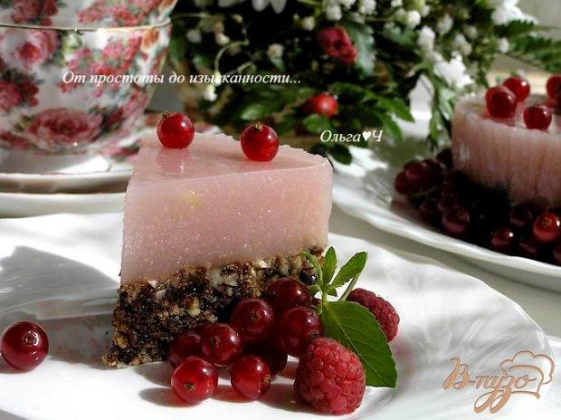 Торт-желе без выпечки с гуавой