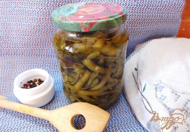 Консервированная спаржевая фасоль в кисло-сладком маринаде