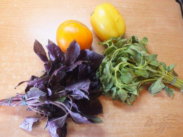 Салат из желтых микадо и болгарского перца
