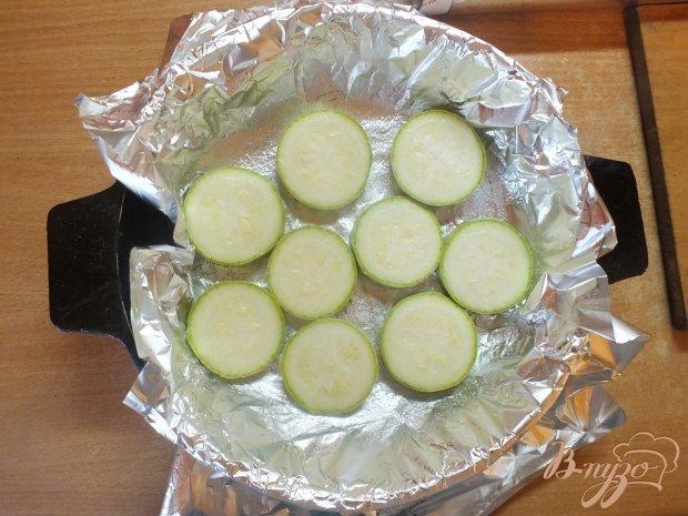 Запеченные овощи-дуэт под шубой из сулугуни и зелени