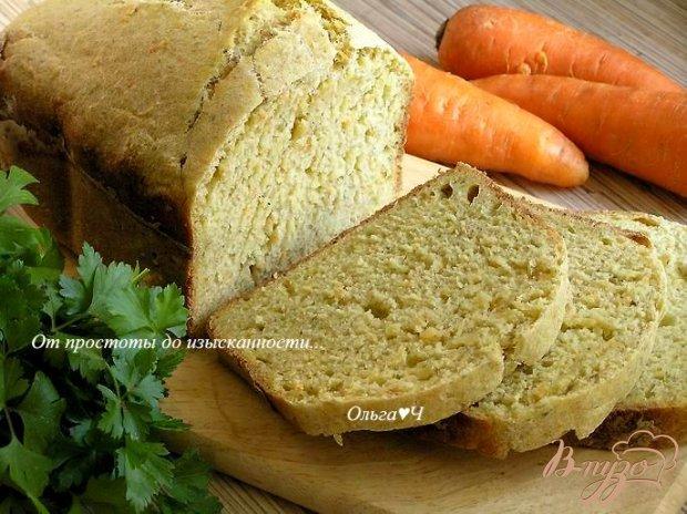 Хлеб с морковью и укропом