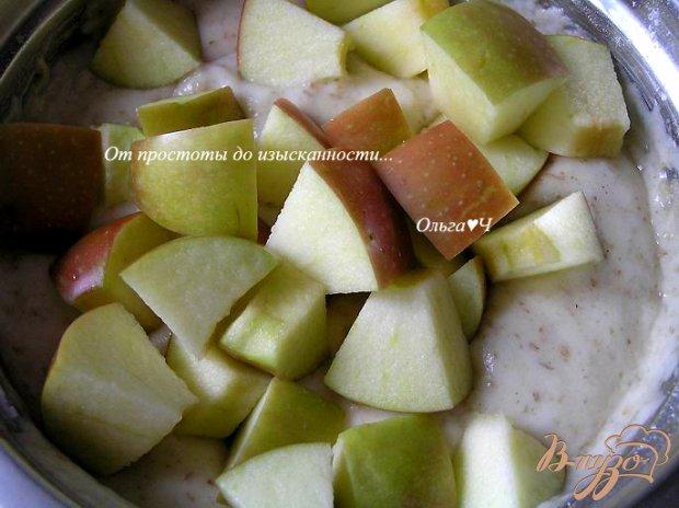 Шарлотка с яблоками и овсяными отрубями (в мультиварке)