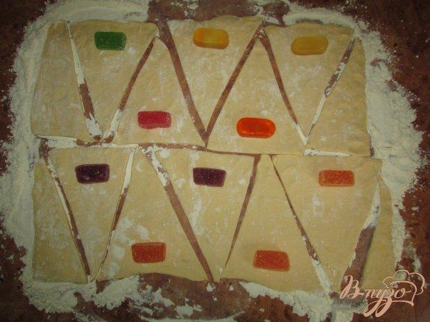 Рогалики с мармеладными конфетами