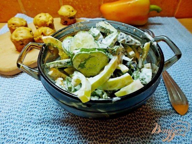 Салат огуречный  с фенхелем