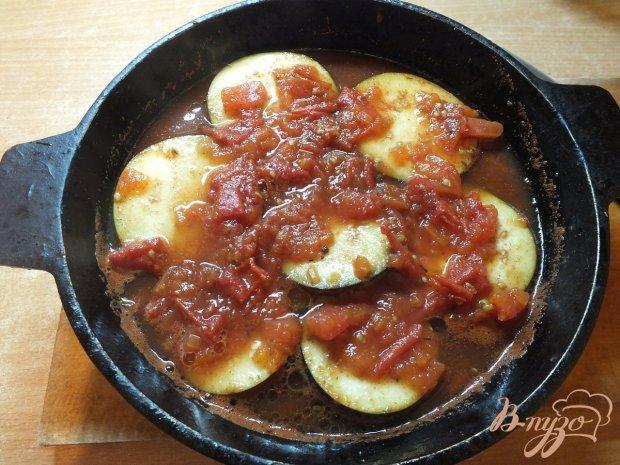 Баклажаны под соусом из помидоров