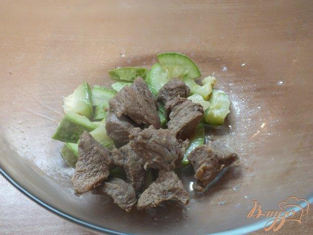Салат деревенский теплый с говядиной