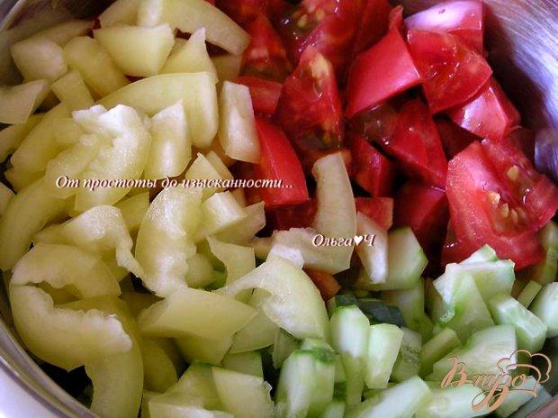 Теплый рисовый салат с овощами