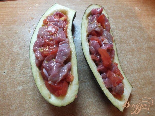 Зразы с мясом и томатами из баклажанов