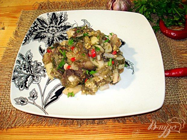 Салат из баклажанов, острый