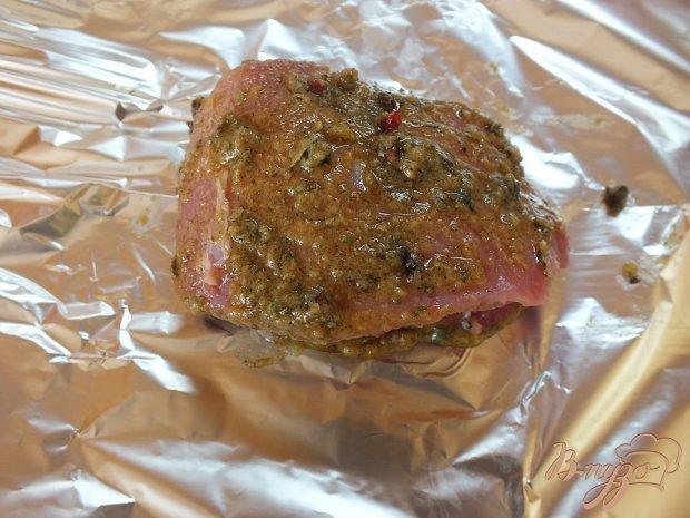 Горчичное мясо со специями