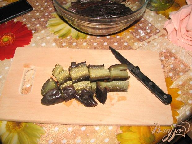 Легкий салат из баклажан
