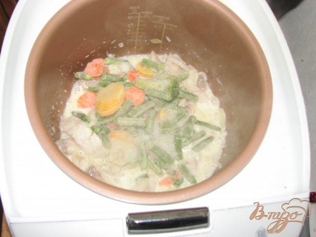 Тилапия с овощами