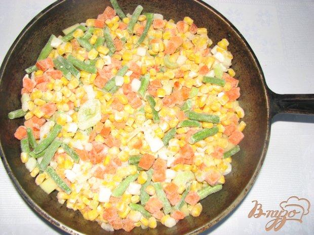 Овощи печеные Сковородка с грибами
