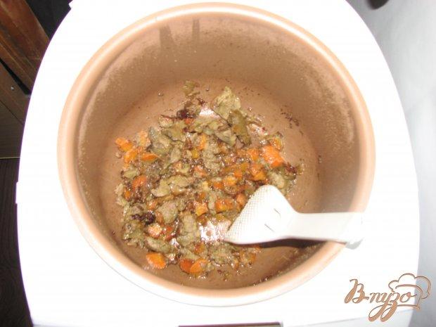 Куриная печенка тушеная  с овощами