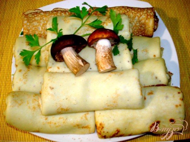 Рецепт Блины с грибной пастой