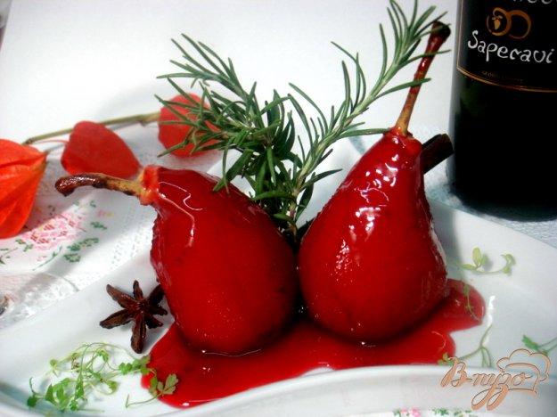 Рецепт Груши в винном соусе