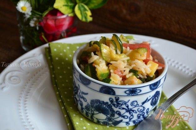 Рецепт Рисовый салат с овощами и сыром