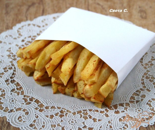 Рецепт Картофель фри без масла