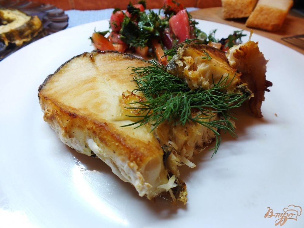 Фото приготовление рецепта: Имбирный стейк из масляной рыбы шаг №8