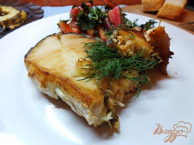 фото рецепта: Имбирный стейк из масляной рыбы