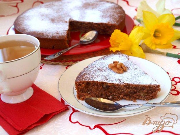 Рецепт Постный медово-шоколадный манник с изюмом и орехами