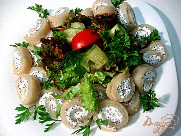 Рецепт Кальмары фаршированные с салатом