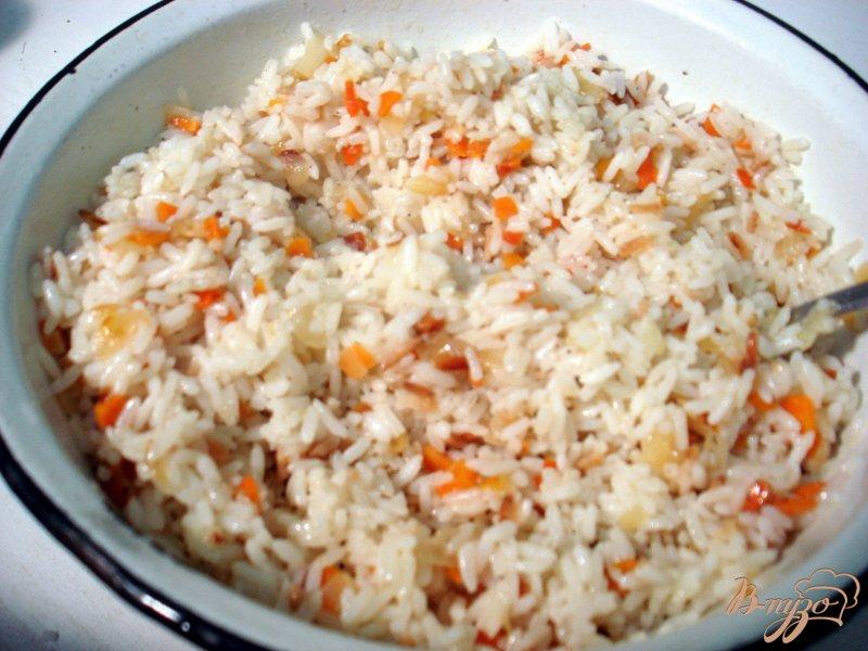 Фото приготовление рецепта: Вегетарианские голубцы и перцы шаг №5