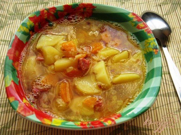 Рецепт Гороховый суп с копченой колбасой