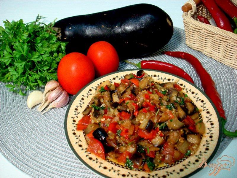 Фото приготовление рецепта: Восточная баклажанная икра шаг №13