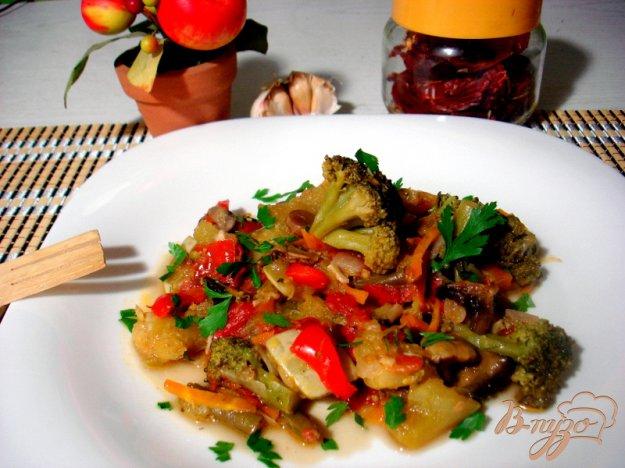 Рецепт Рагу с грибами и брокколи