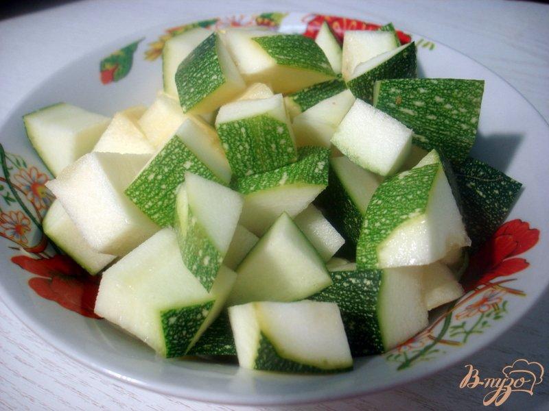 Фото приготовление рецепта: Суп пюре из цукини с фрикадельками шаг №4