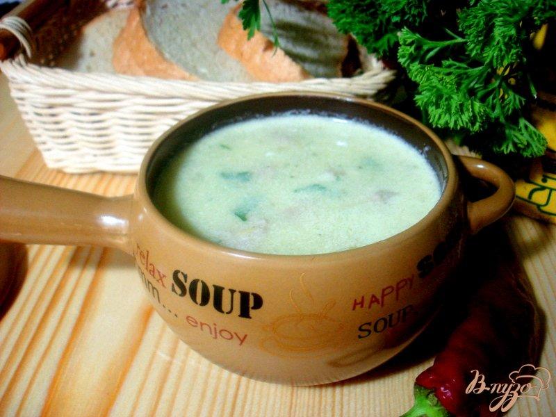 Фото приготовление рецепта: Суп пюре из цукини с фрикадельками шаг №10