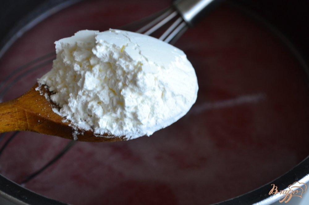 Фото приготовление рецепта: Кисель из дыни с малиной шаг №2