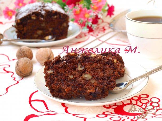 Рецепт Постный шоколадный манник с изюмом и орехами