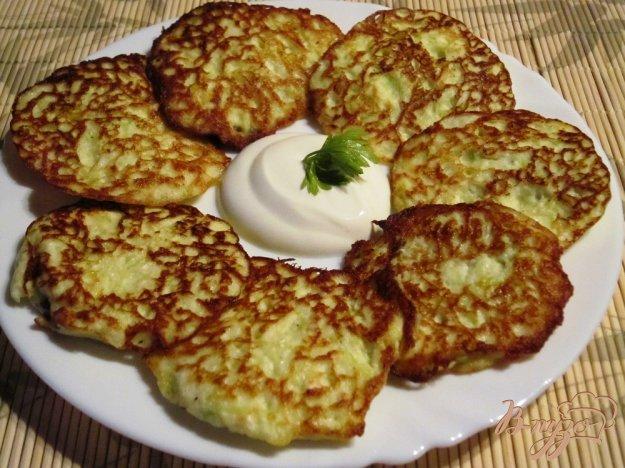 Рецепт Оладьи из кабачков с творогом