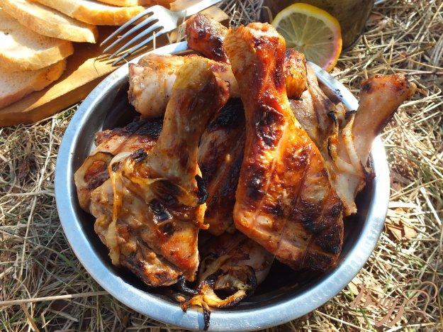 Рецепт Шашлык из вымоченных куриных голеней