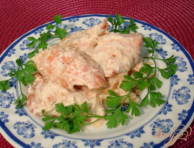 фото рецепта: Мясо лосося в сливках