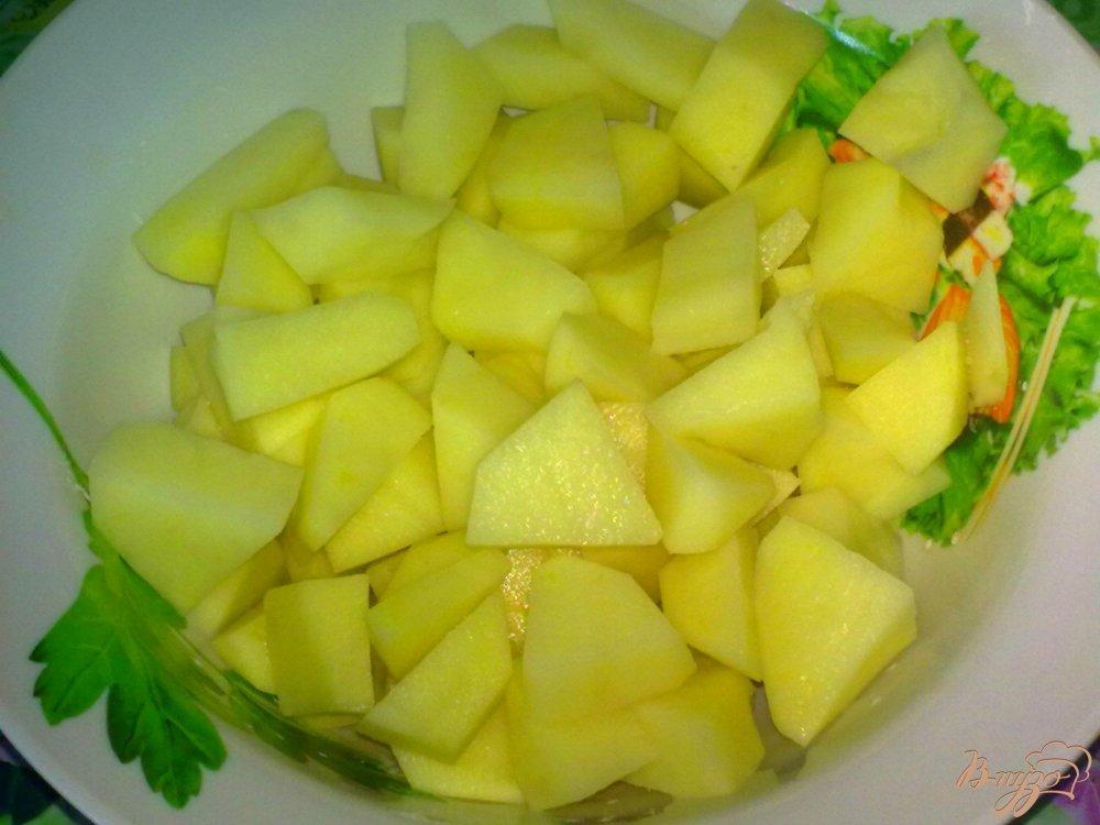 Фото приготовление рецепта: Суп с кальмаром шаг №1