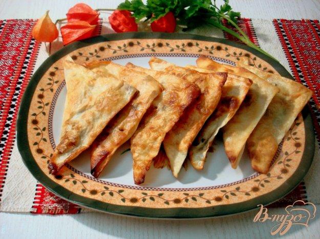 Рецепт Пирожки с картофелем и грибами (из лаваша)